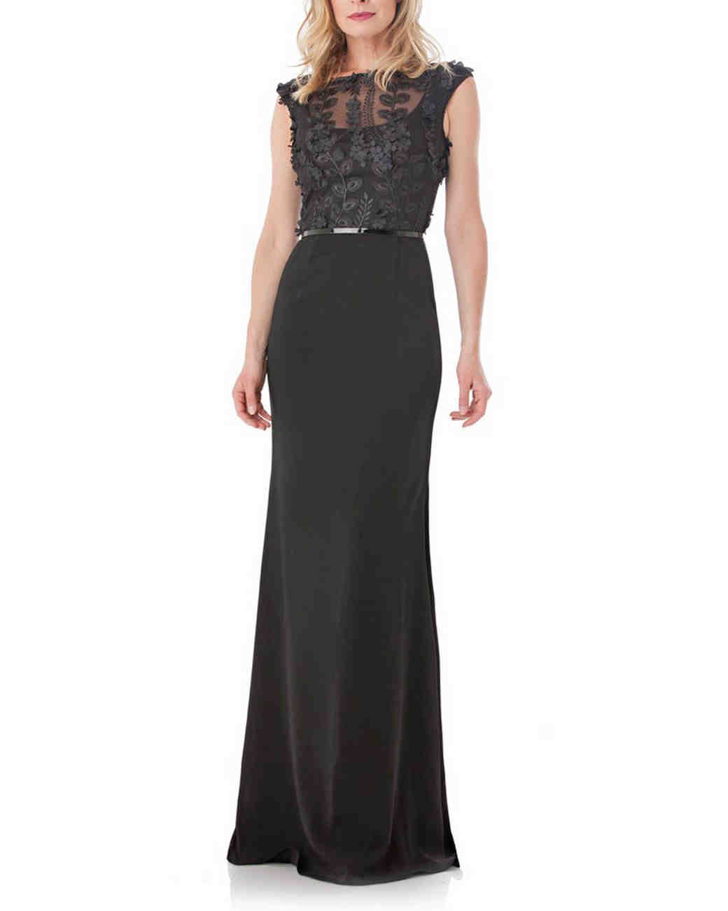 Carmen Marc Valvo Infusion Crepe Gown