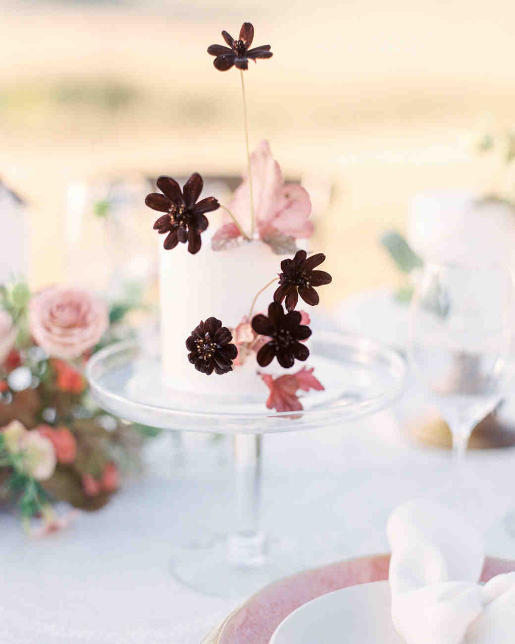Wildflower Garnished individual cakes