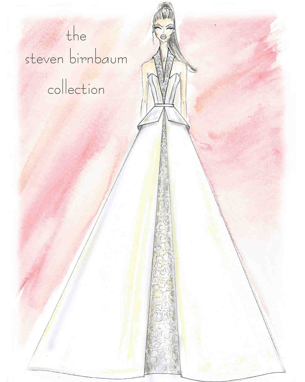 steven birnbaum collection wedding dress sketch
