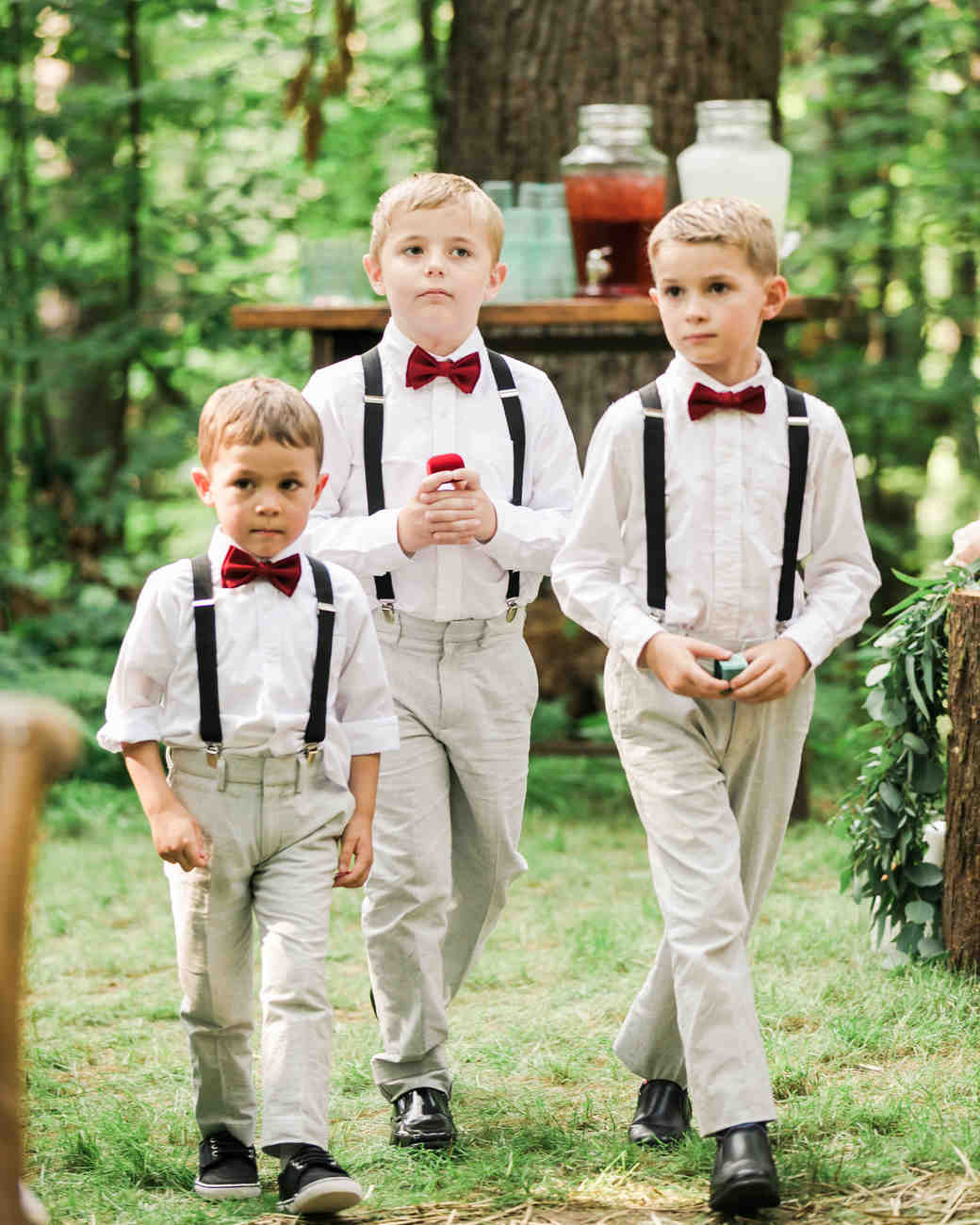 vanessa steven wedding ring bearers