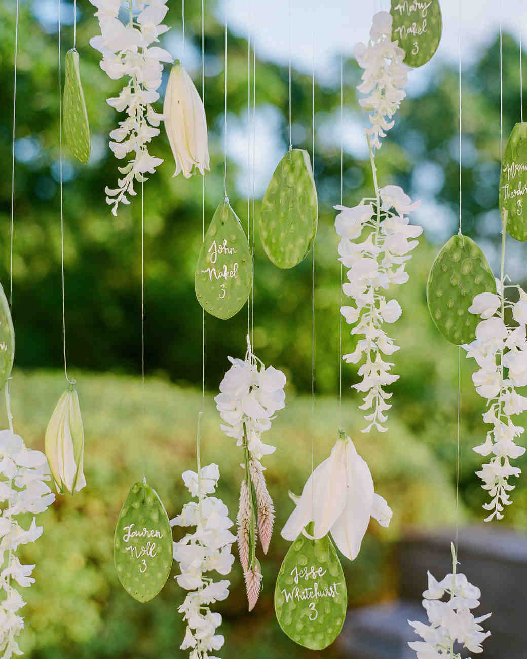 vicky james mexico wedding cactus hanging escort cards