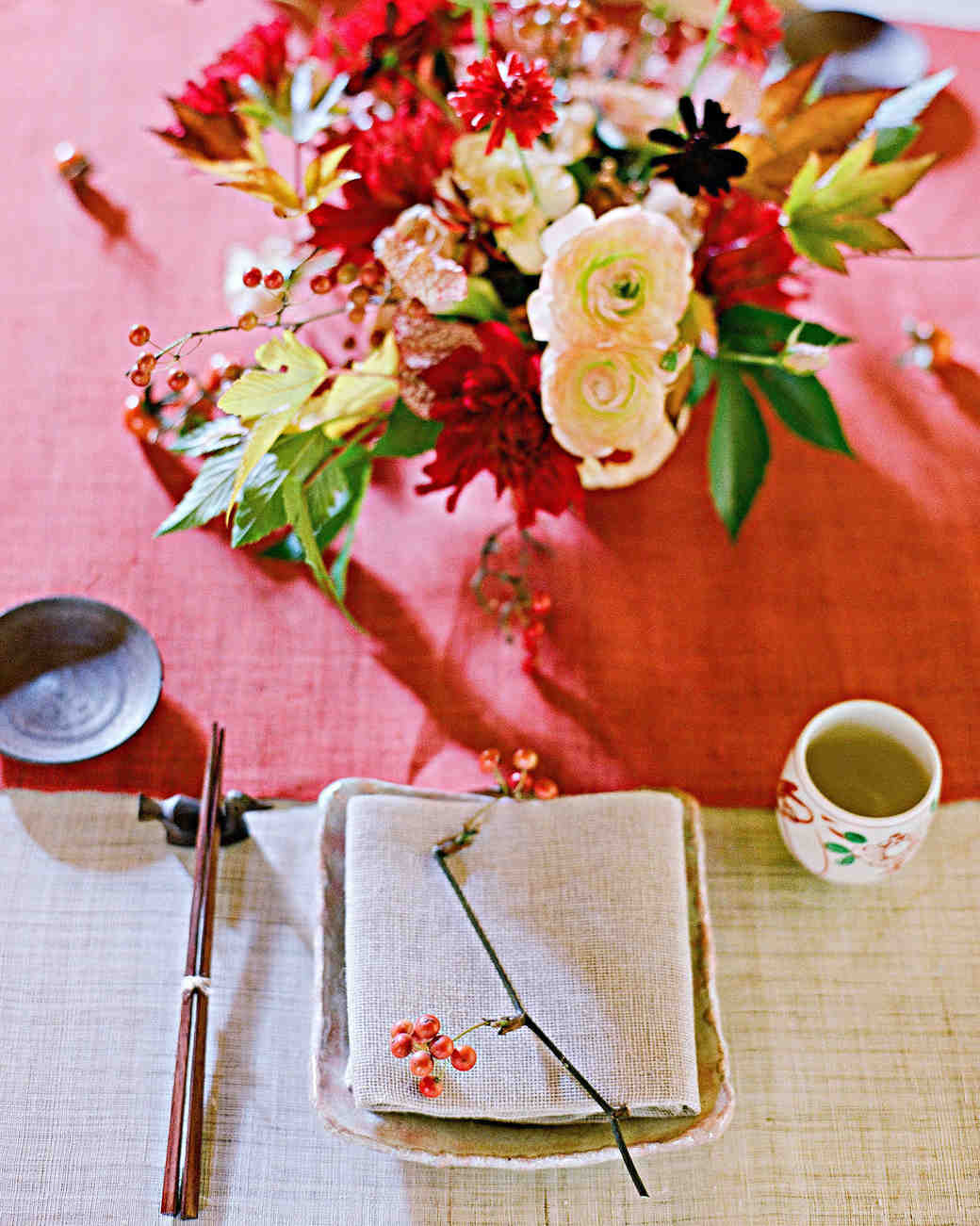 addie richard wedding japan table setting