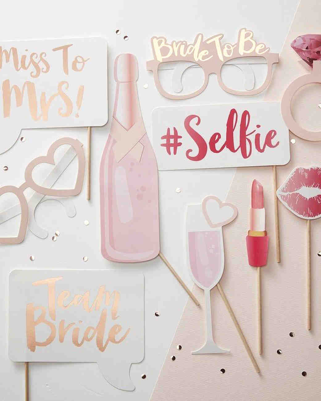 bachelorette party supplies photo booth props