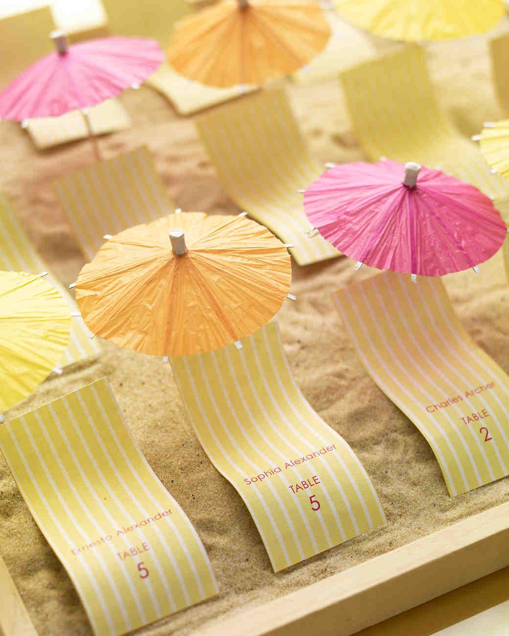 Escort Card Ideas for a Beach Wedding Martha Stewart Weddings