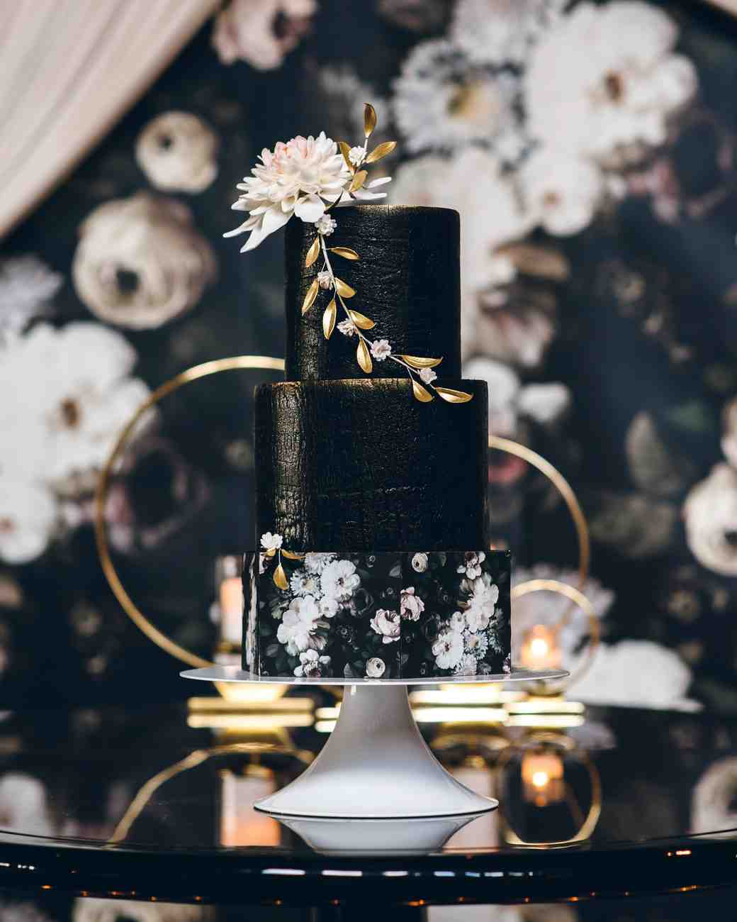 32 Amazing Wedding Cakes You Have To See To Believe: 21 Beautiful Black Wedding Cakes For The Nontraditional