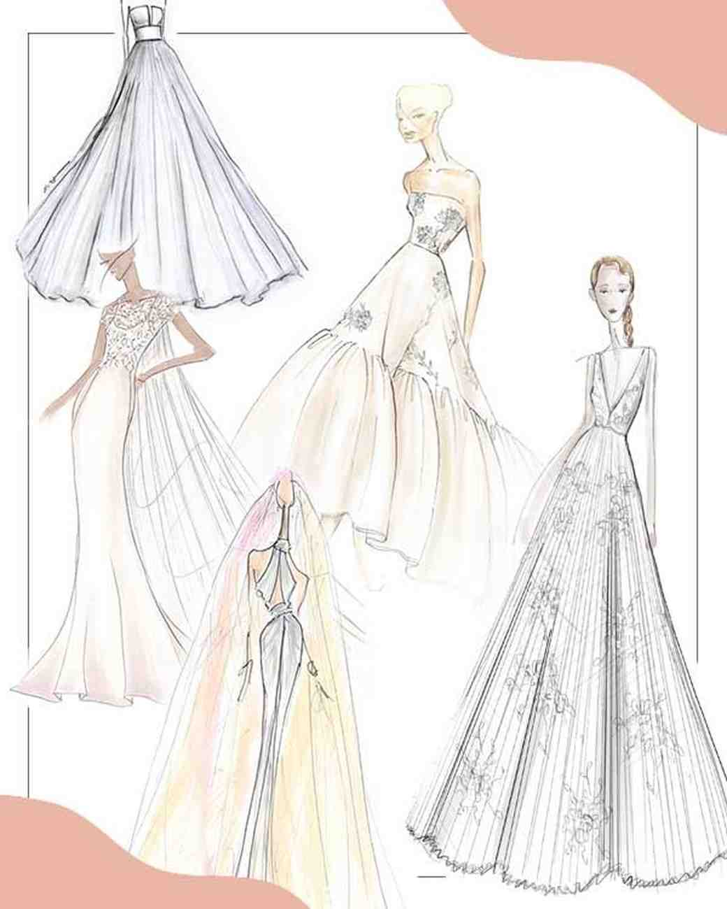 spring 2020 bridal fashion week sketches