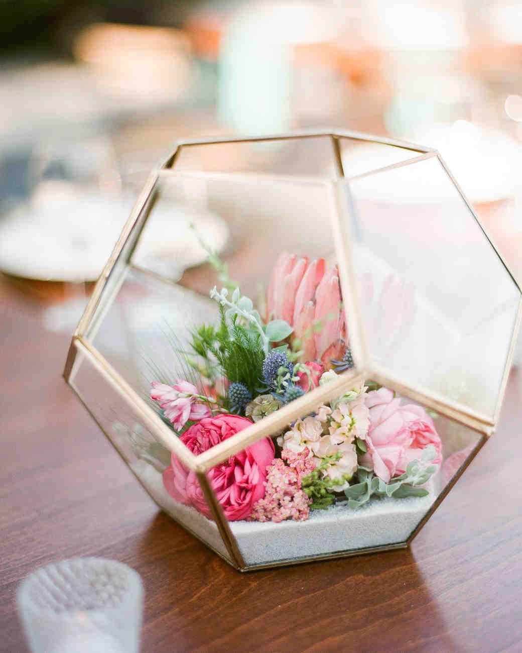 geometric bridal shower centerpiece