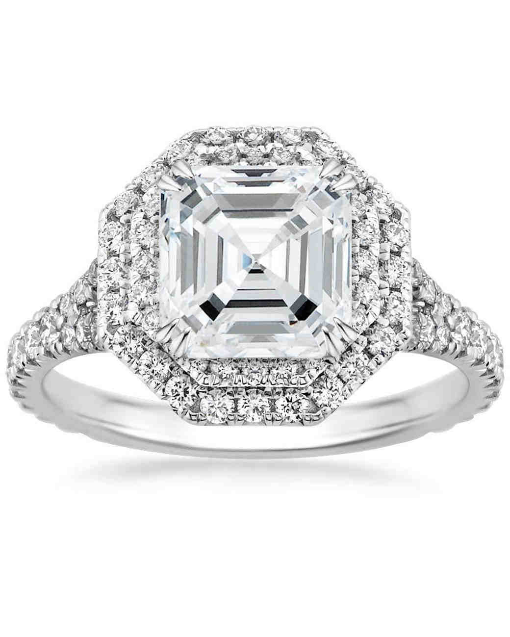 Brilliant Earth Asscher-Cut Platinum Roslin Diamond Engagement Ring