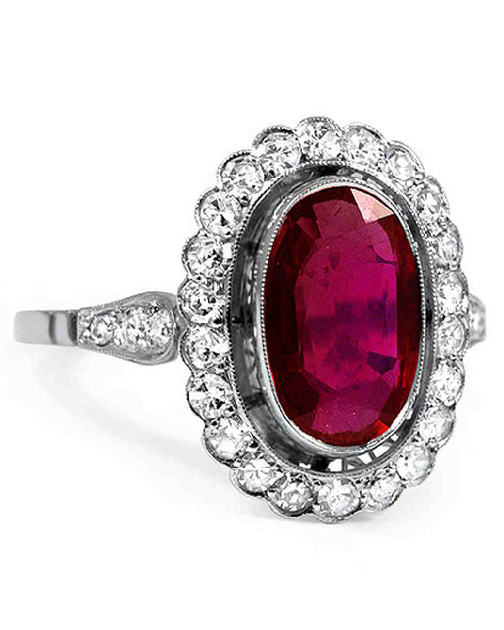 brilliant earth margalit ruby engagement ring with a round diamond halo - Ruby Wedding Ring