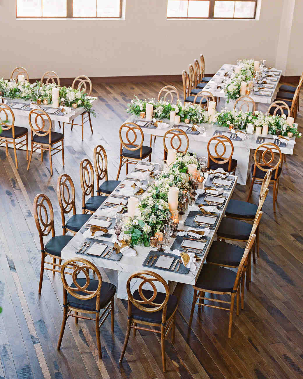 wedding reception tables indoor