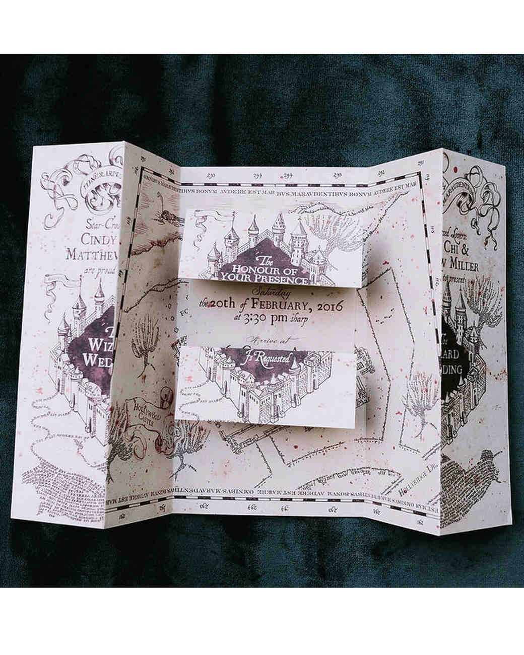 harry potter wedding invite