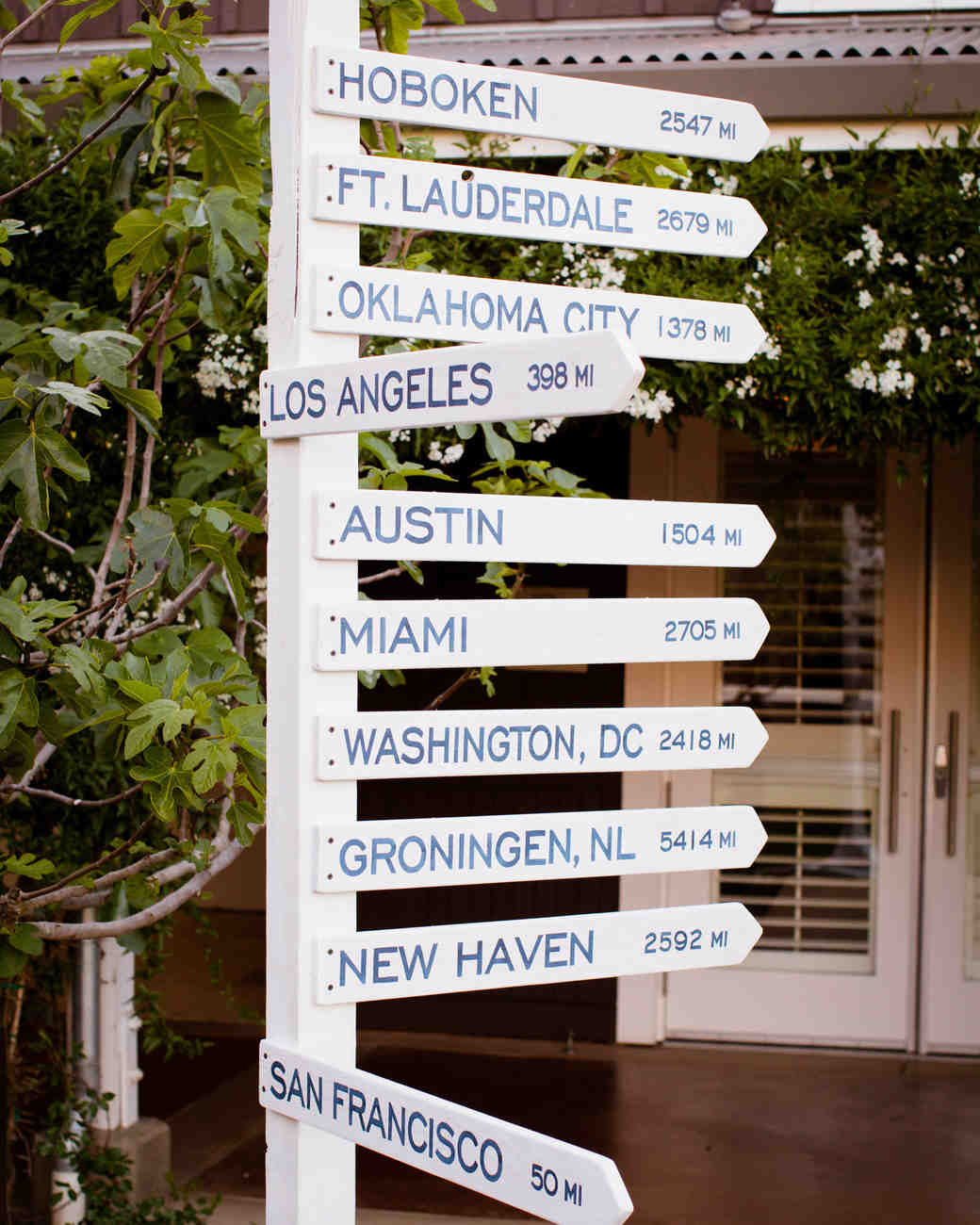 Painted Wooden Direction Sign