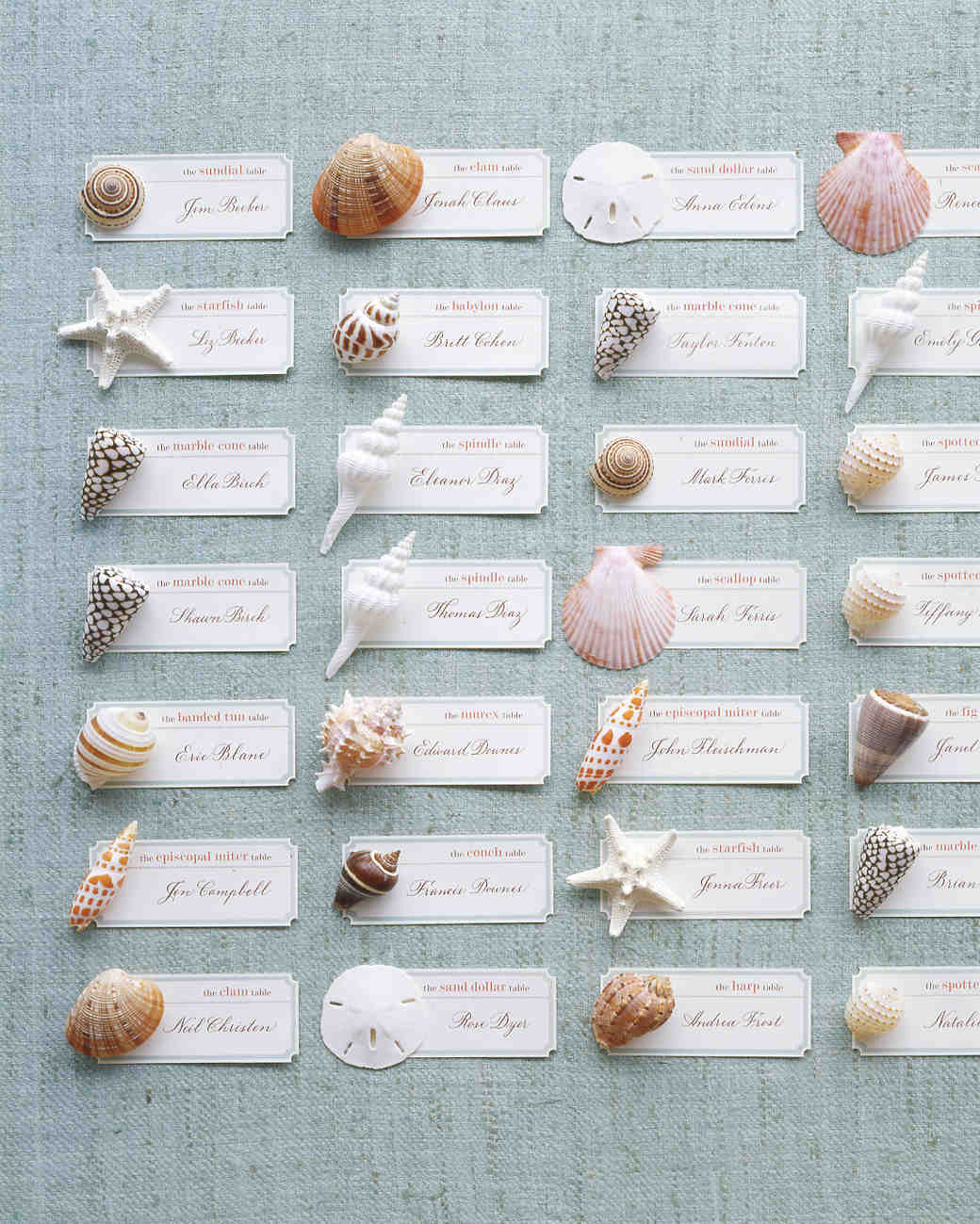 Escort Card Ideas for a Beach Wedding | Martha Stewart Weddings