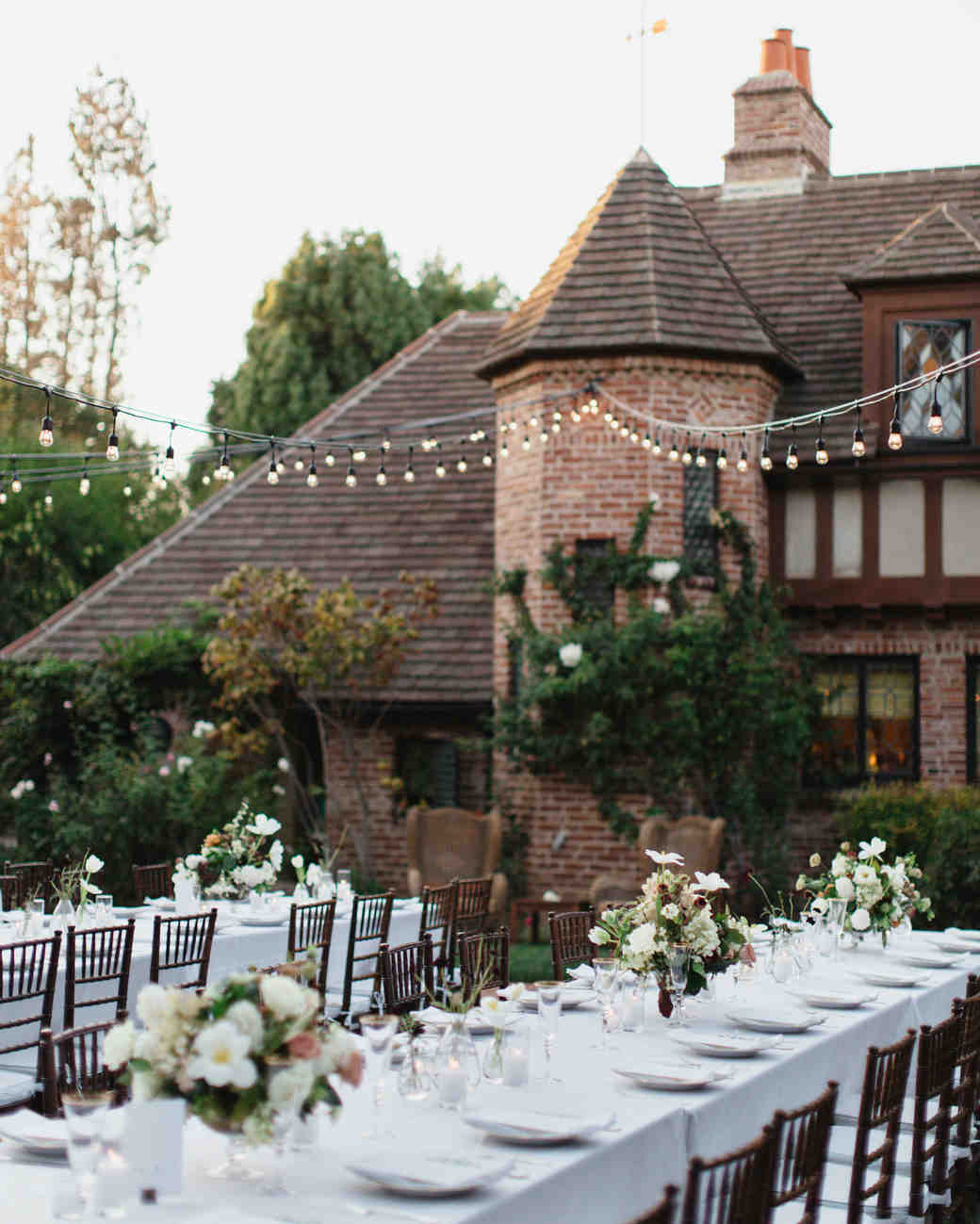 a backyard garden wedding in san marino martha stewart weddings