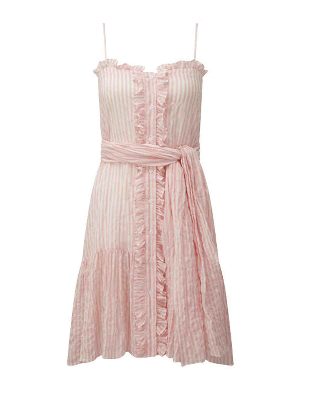 pink and white strapped short engagement party dress