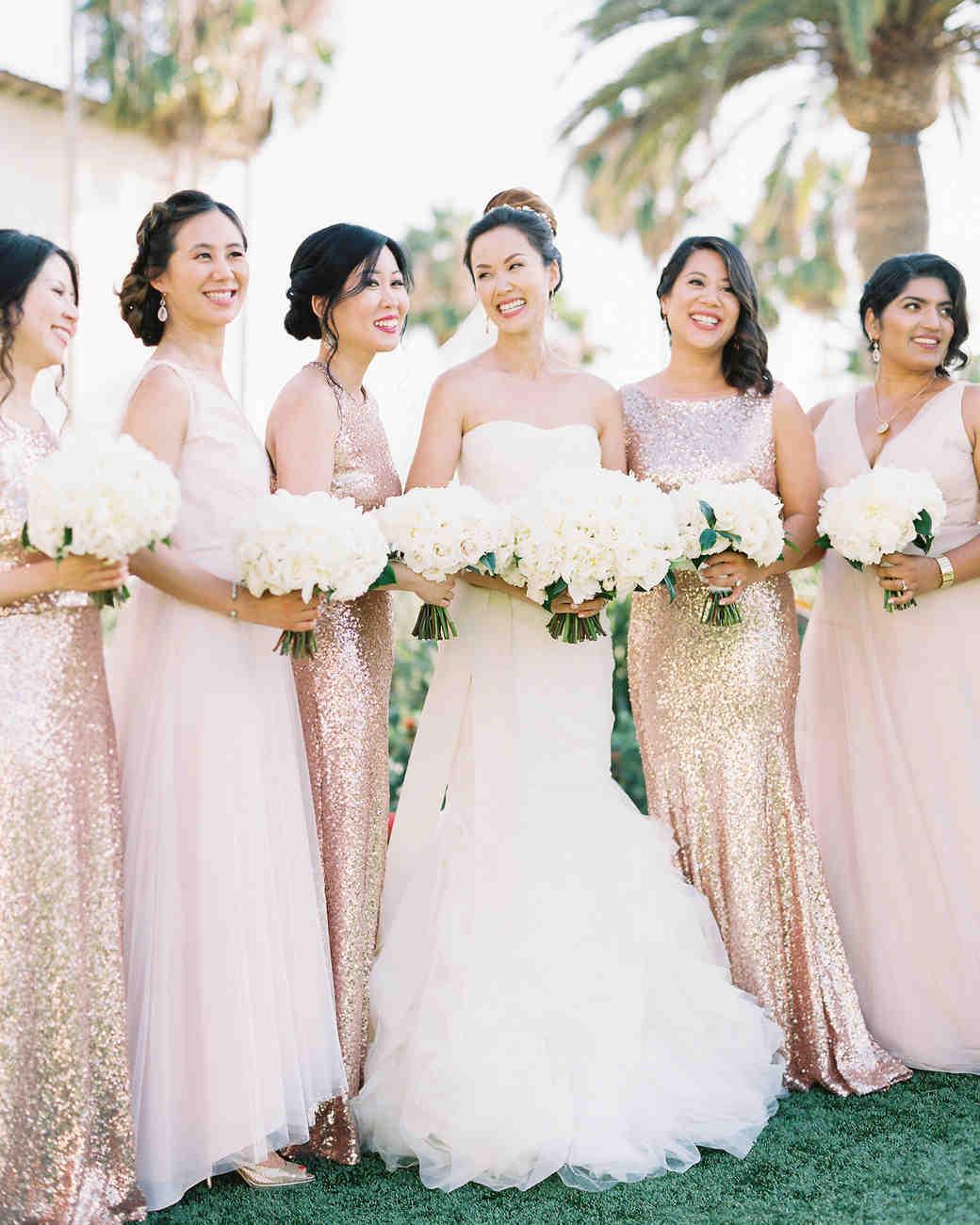 glamorous wedding ideas glam bridal party