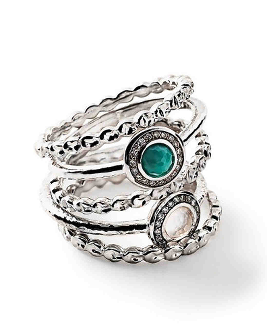 Ippolita Turquoise and Quartz Stacking Rings