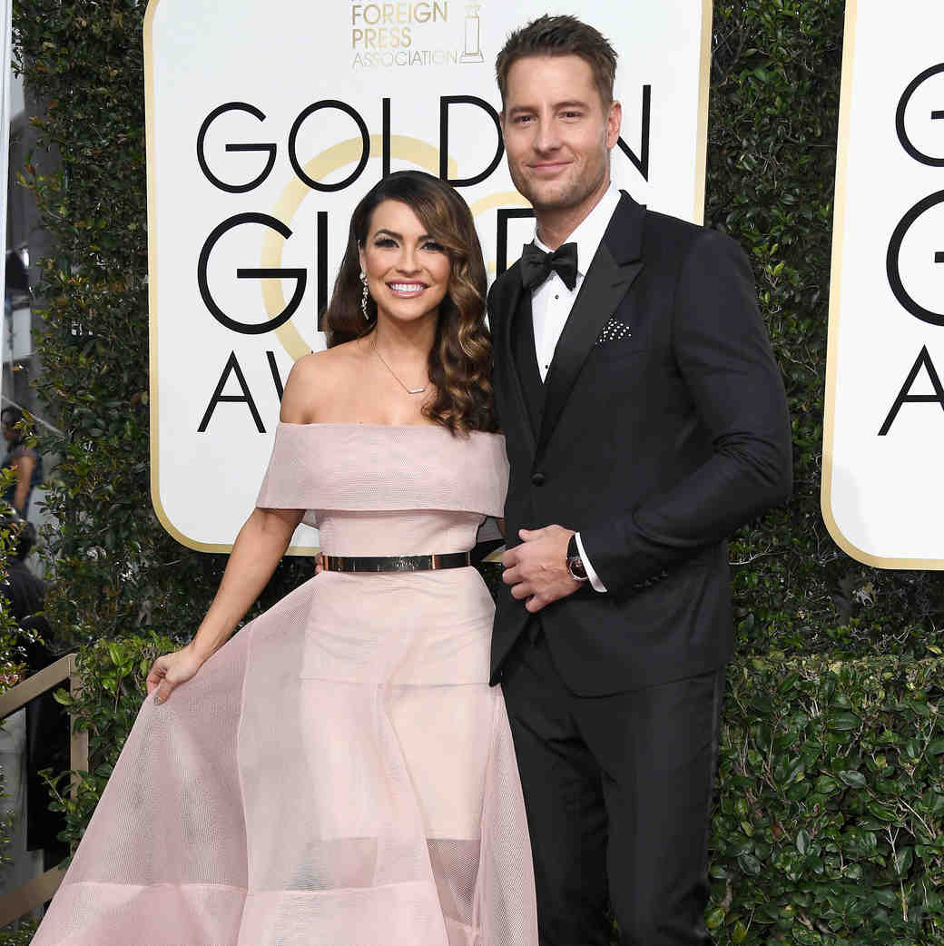 Justin Hartley and Chrishell Stause Golden Globes 2017