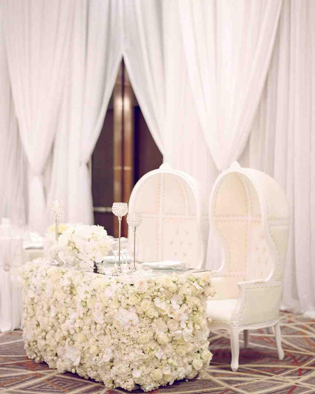 wedding couple sweetheart table