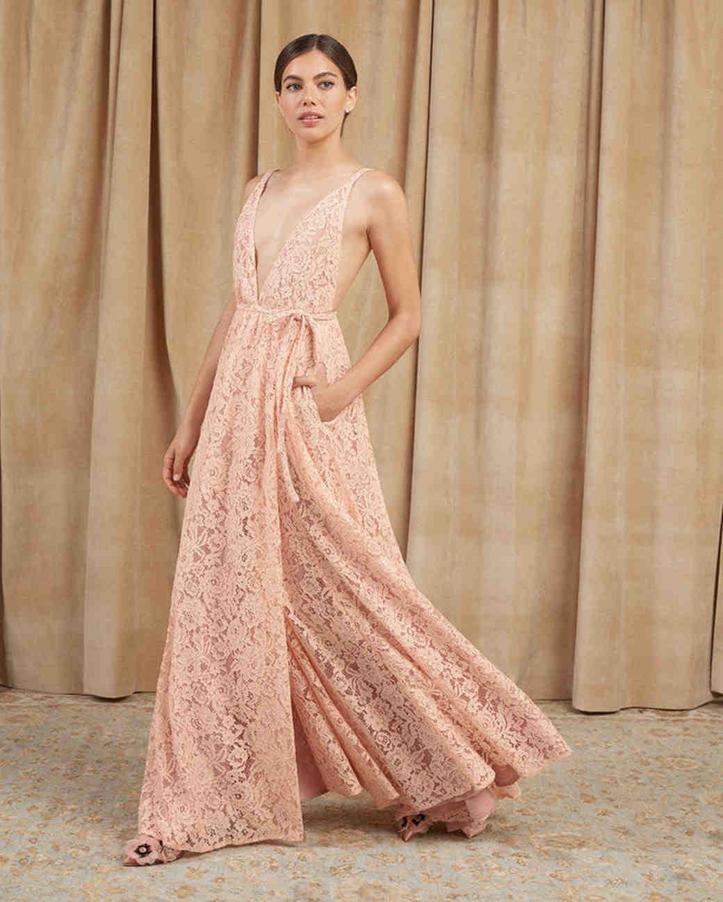 """Lace Bridesmaids Dresses, Reformation """"Montego"""" Dress"""