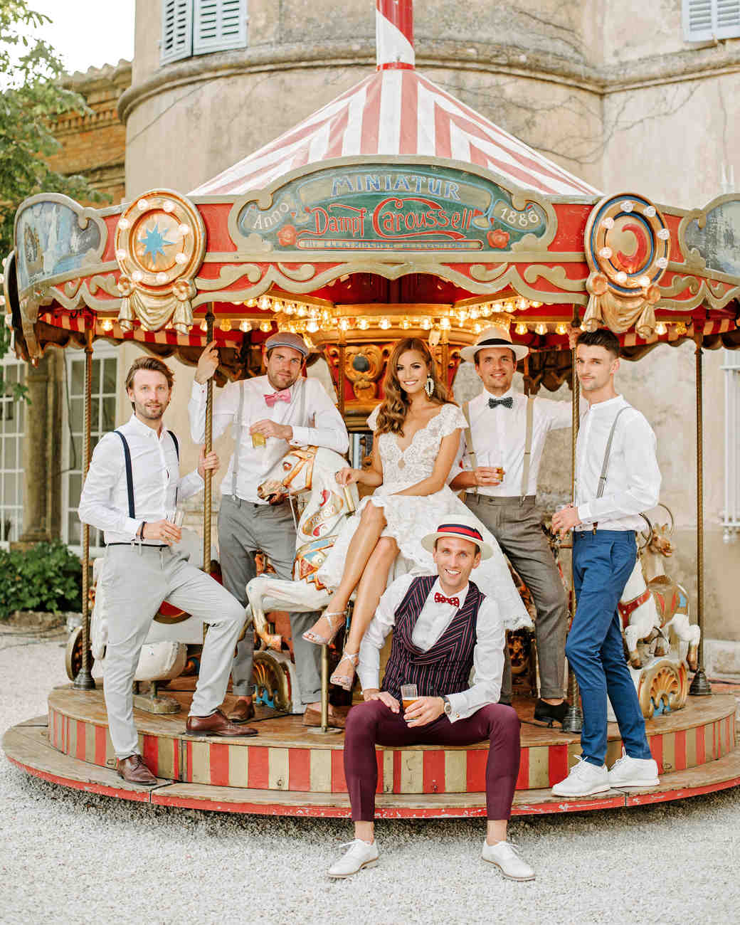 lara kjell circus party guys carousel