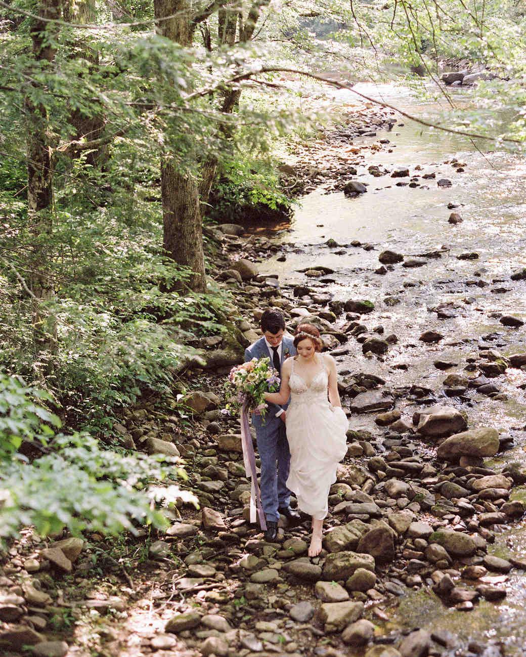 Larkin & Eric's Tennessee wedding - creek