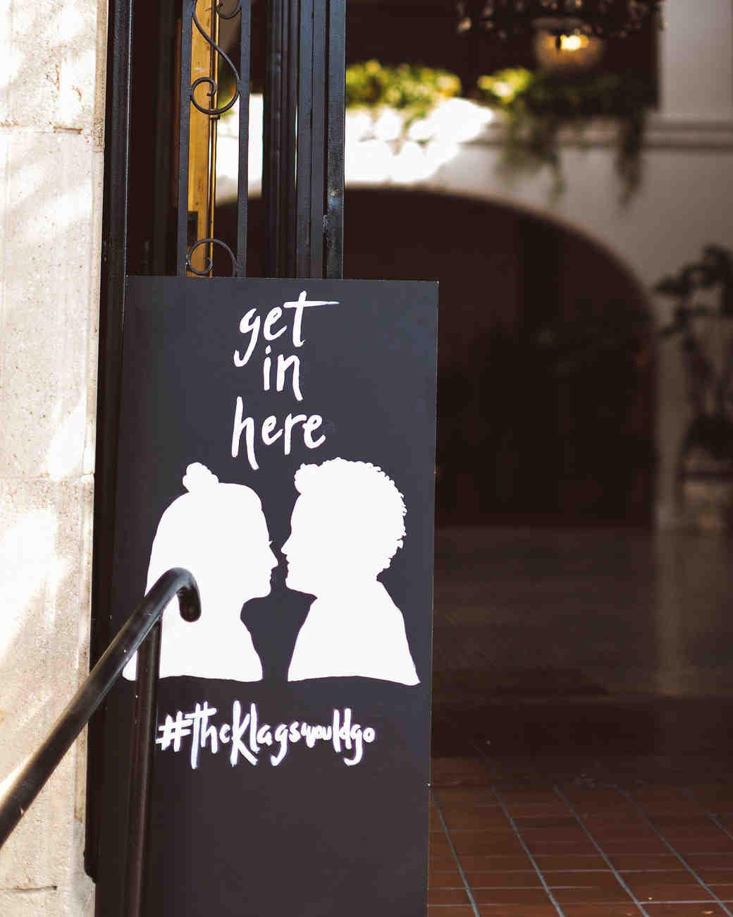 lori john wedding california sign