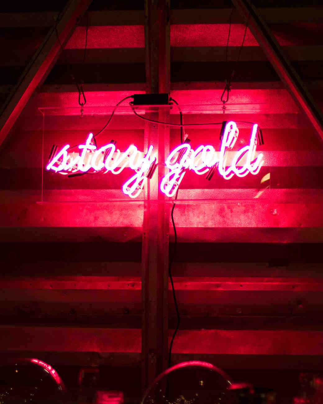 """stay gold"" neon sign"