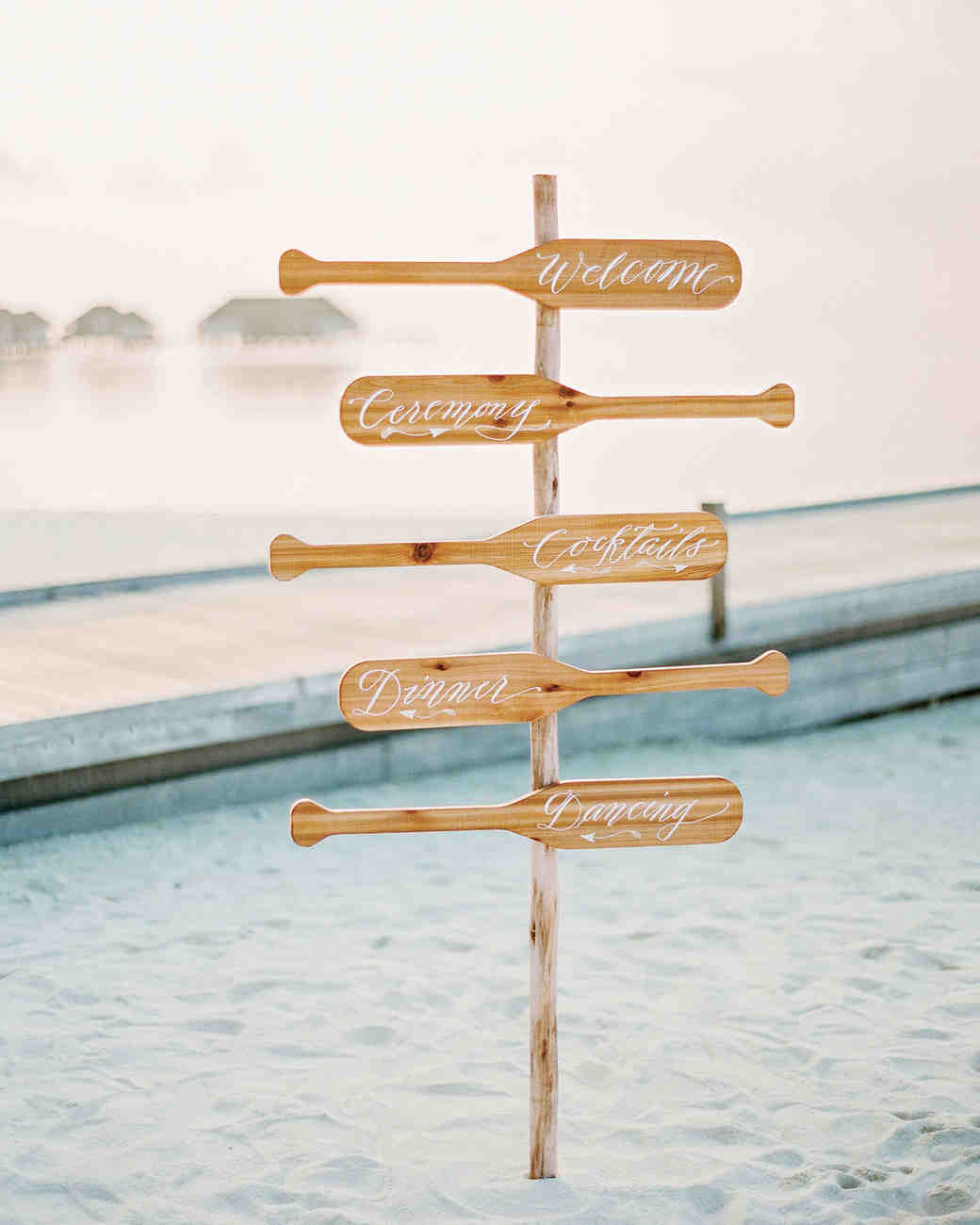 oar wedding signs