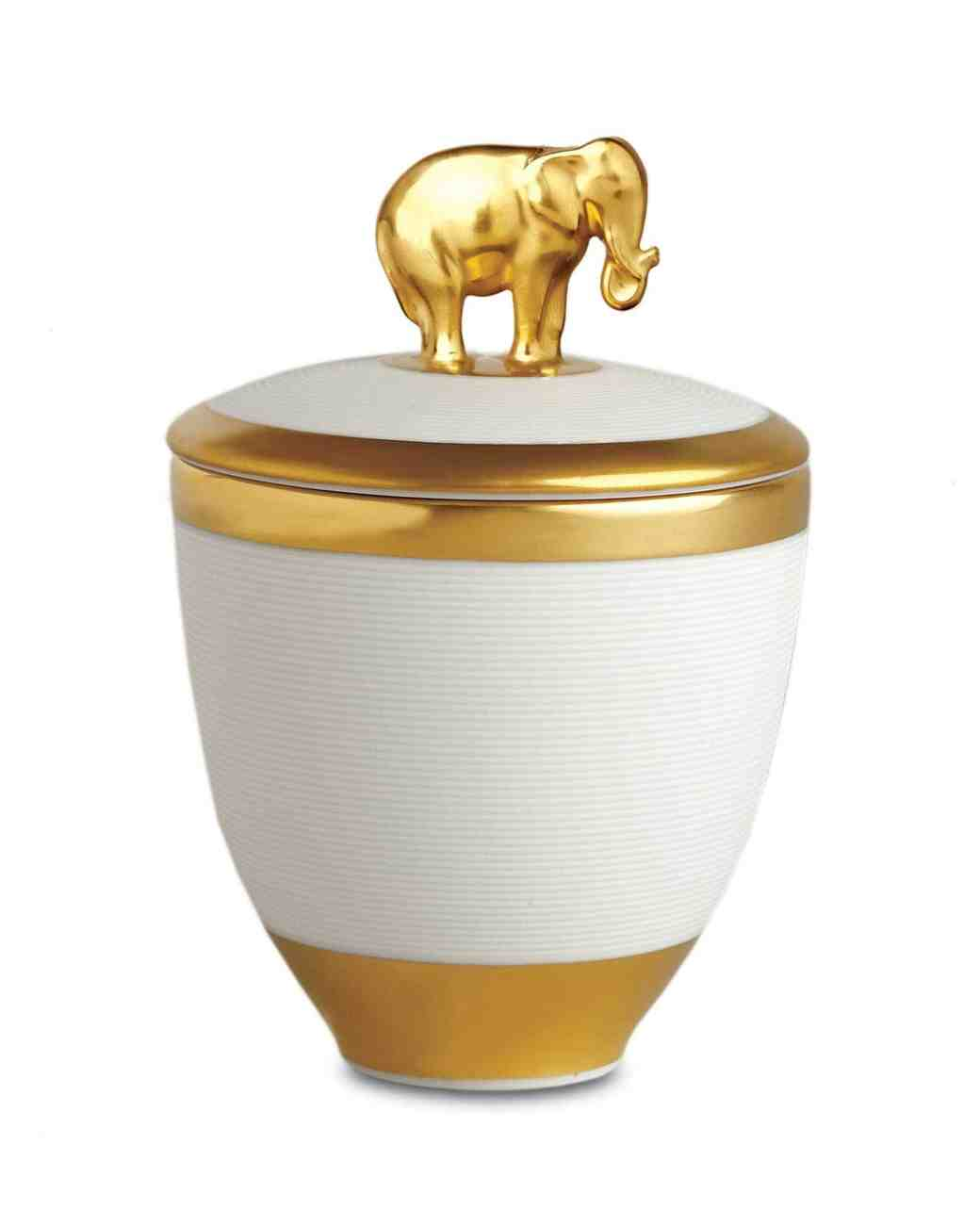 porcelain elephant candle