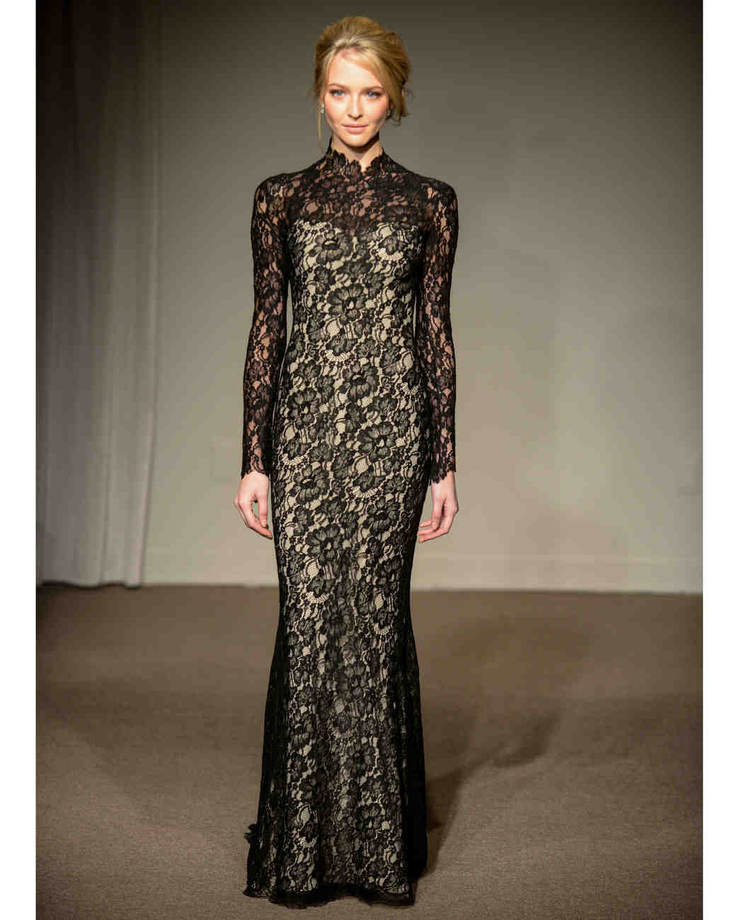 Anna Maier black lace wedding dress