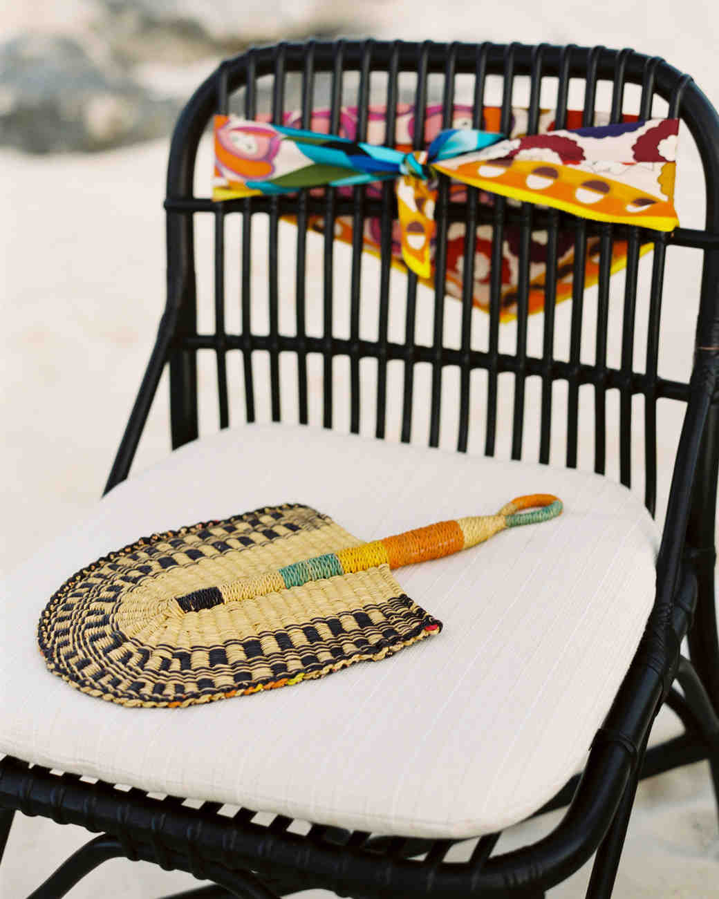 turks and caicos shoot erich mcvey scarf fan chair