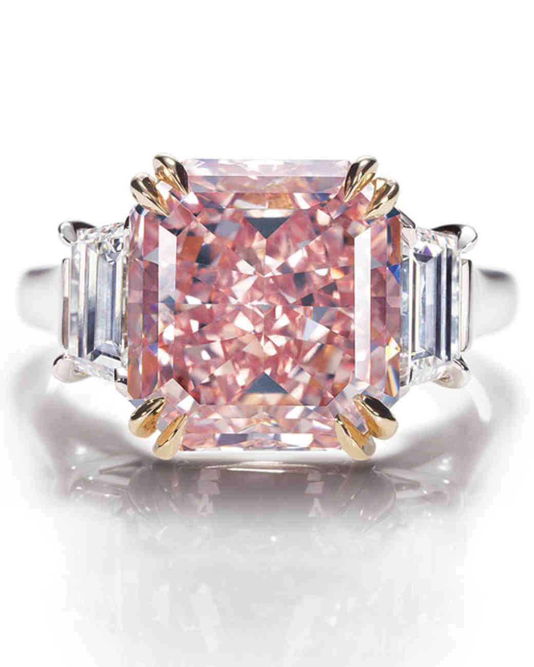 AsscherCut Diamond Engagement Rings Martha Stewart Weddings