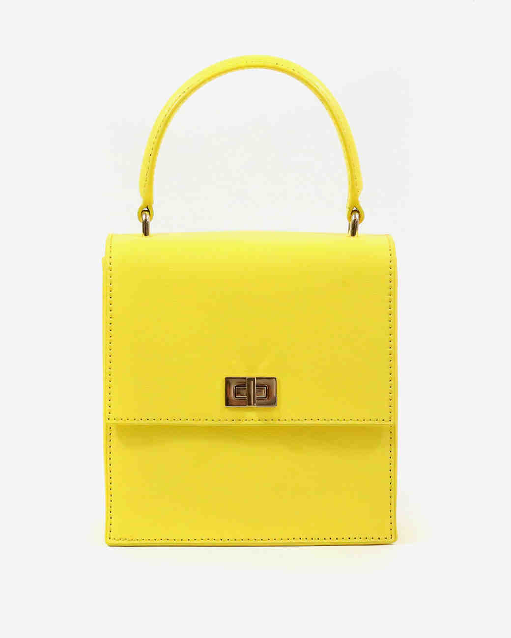 bridesmaid gift yellow mini lady bag