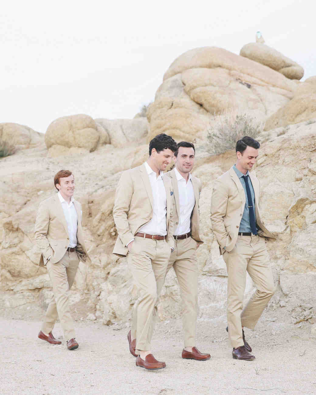 Groomsmen Walking Around Venue