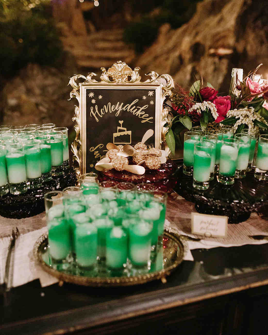 A Moody Magical Harry Potter Themed Wedding Martha Stewart Weddings