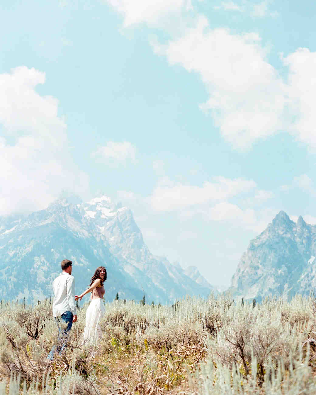 destination engagement couple national park mountain view