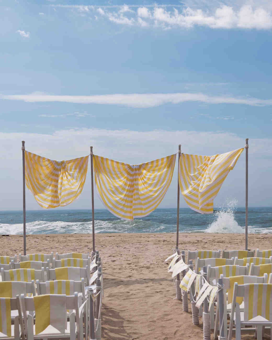 22 creative wedding backdrop ideas martha stewart weddings beachy wedding backdrop junglespirit Image collections