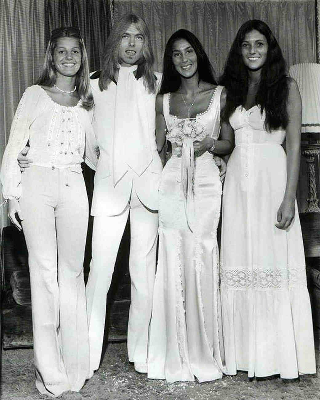 Cher and Gregg Allman Wedding Photo