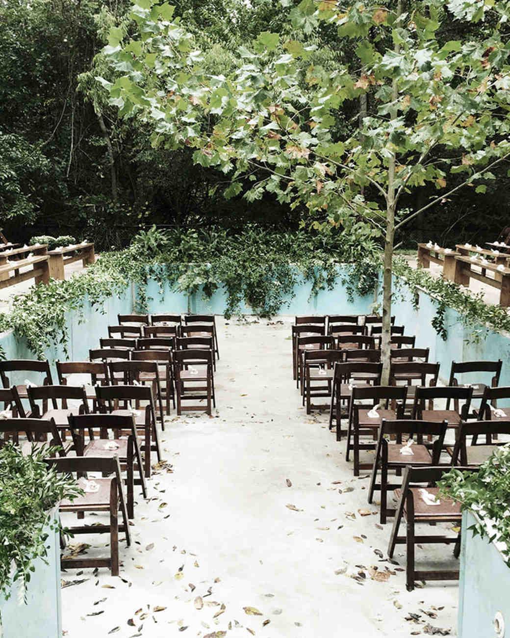 jessie tristan wedding tennessee ceremony pool