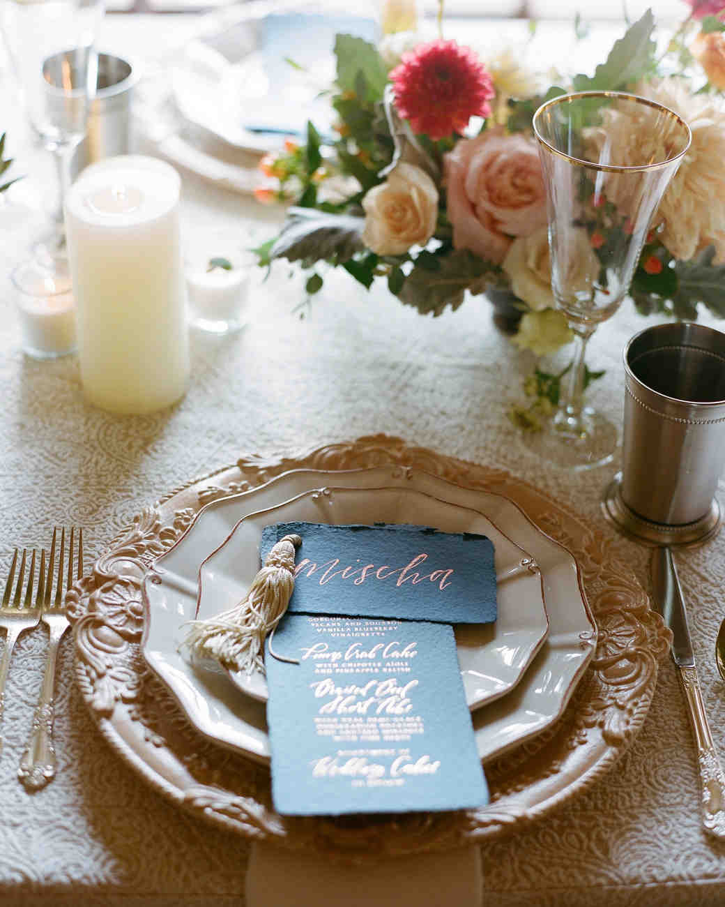 jessika william wedding placesetting