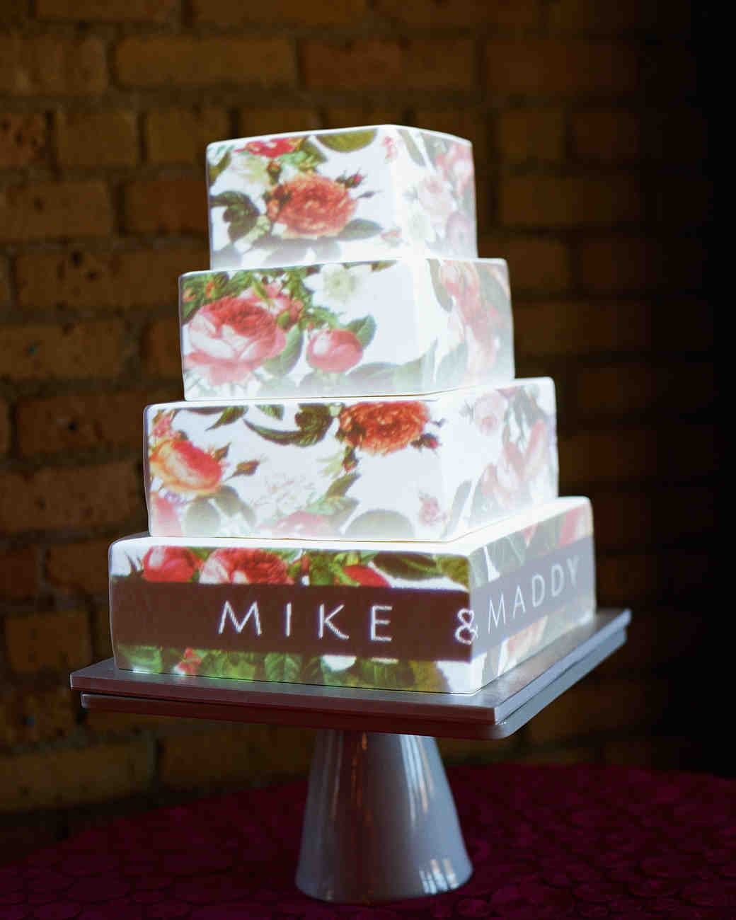 Video-Mapped Wedding Cake