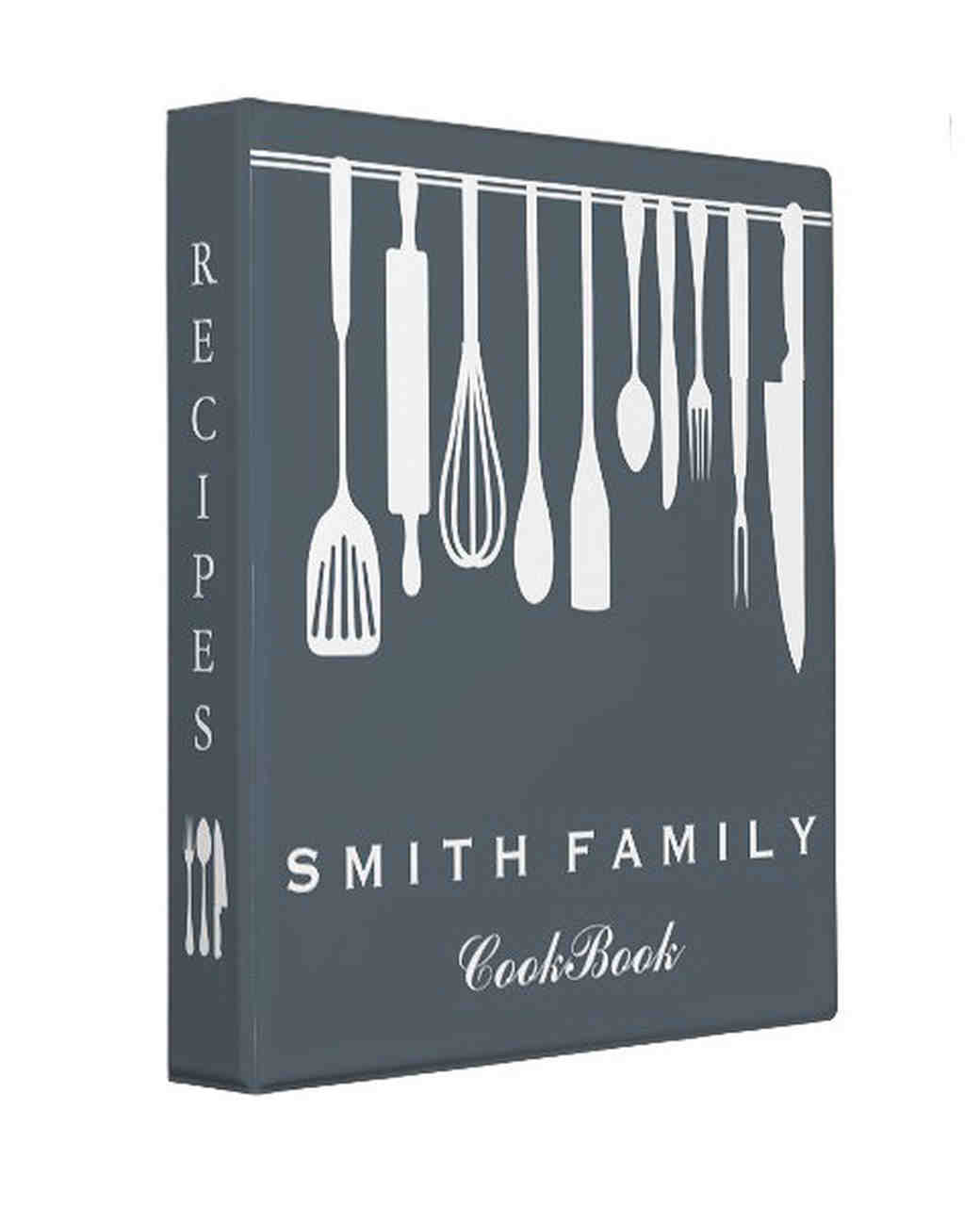 personalized engagement gift cookbook