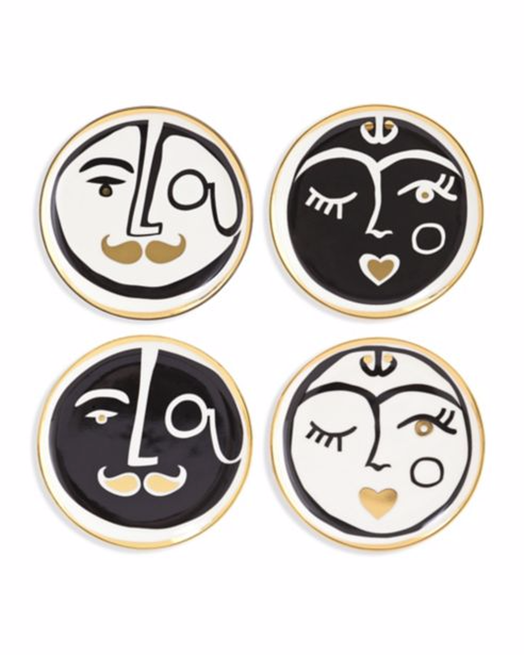 porcelain face coasters