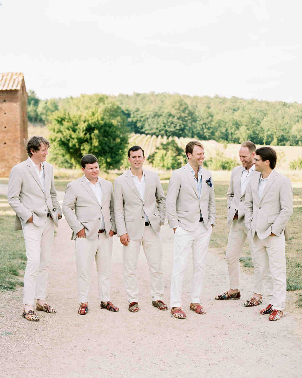 alexis zach wedding italy groomsmen
