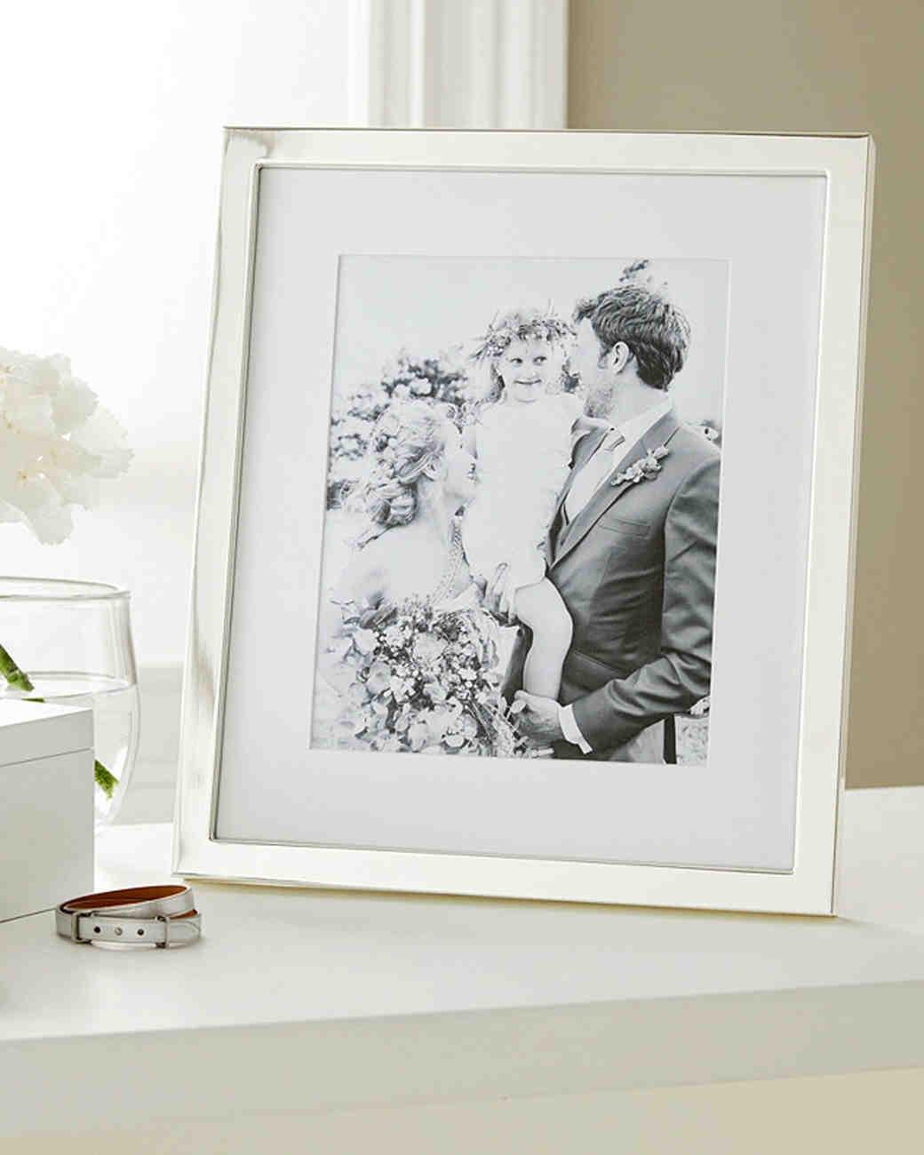 aluminum anniversary gift photo frame