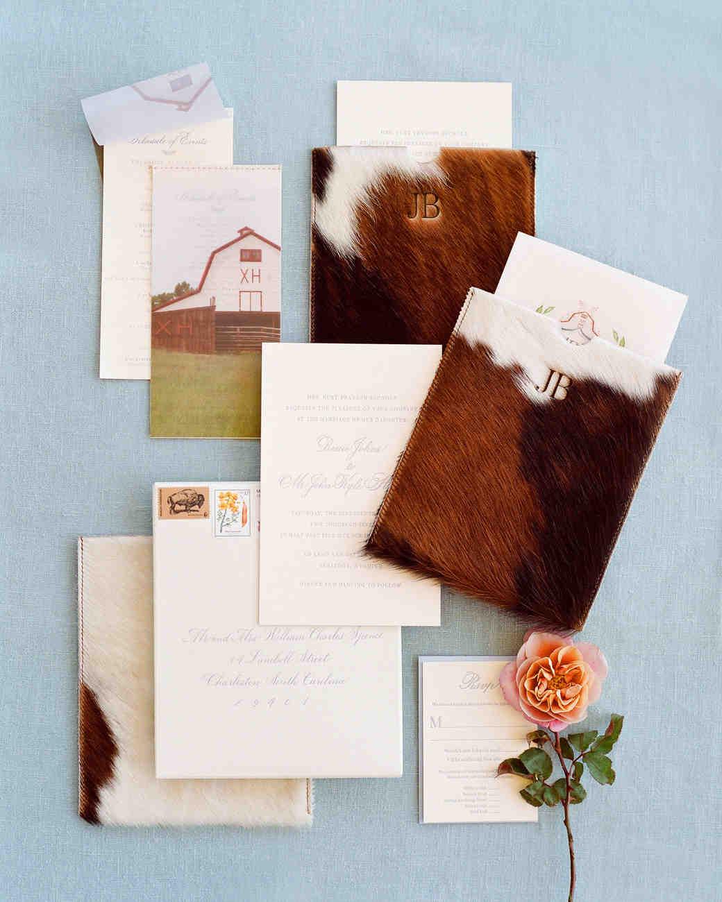 bessie john wedding invitation