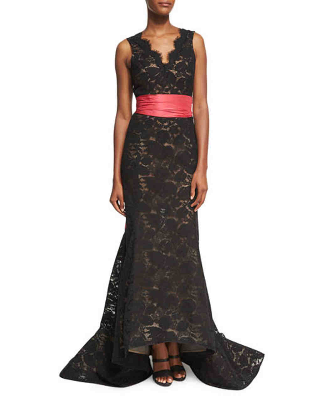 Oscar De La A Black Mother Of The Bride Dress