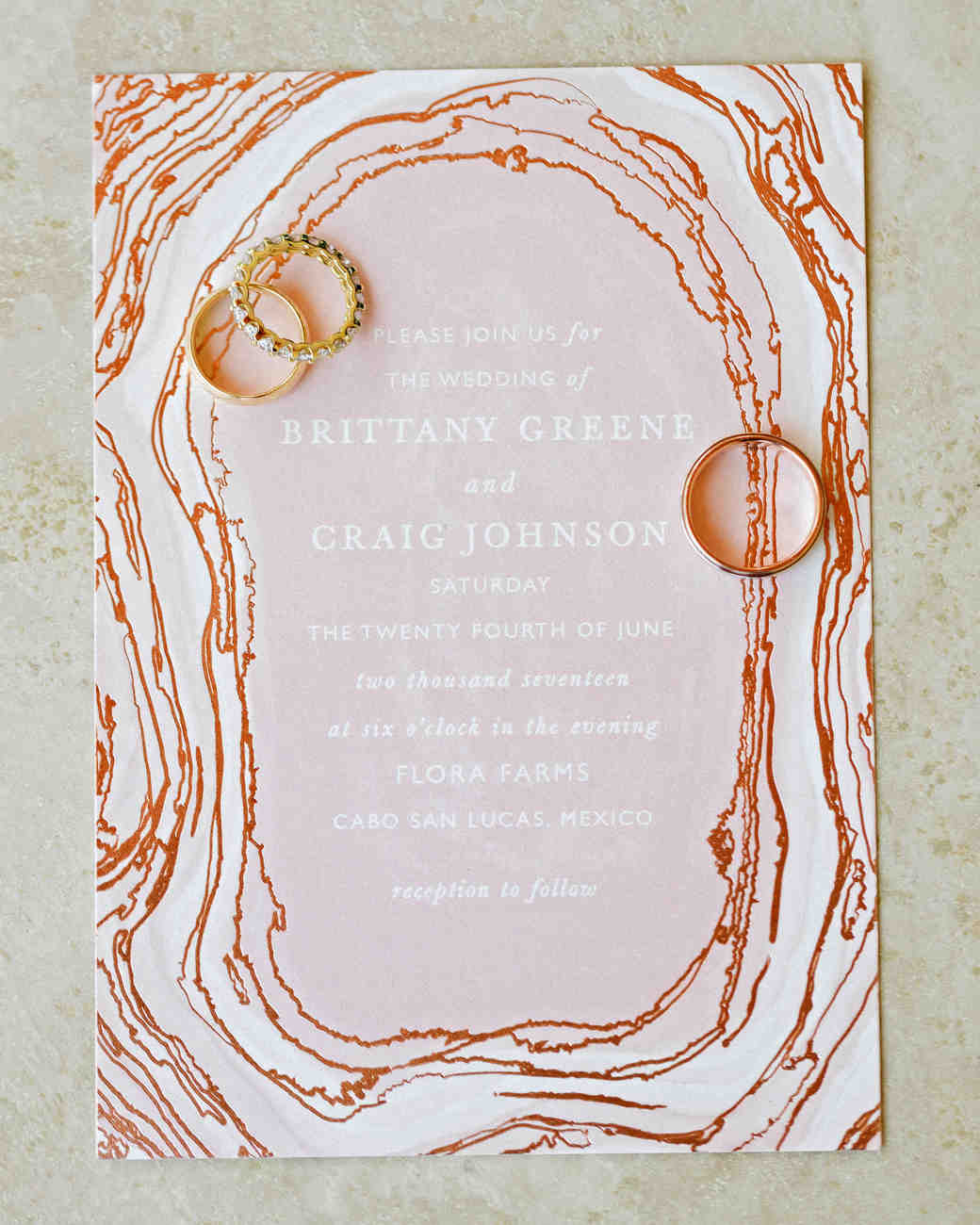 brittany craig wedding invitation rings