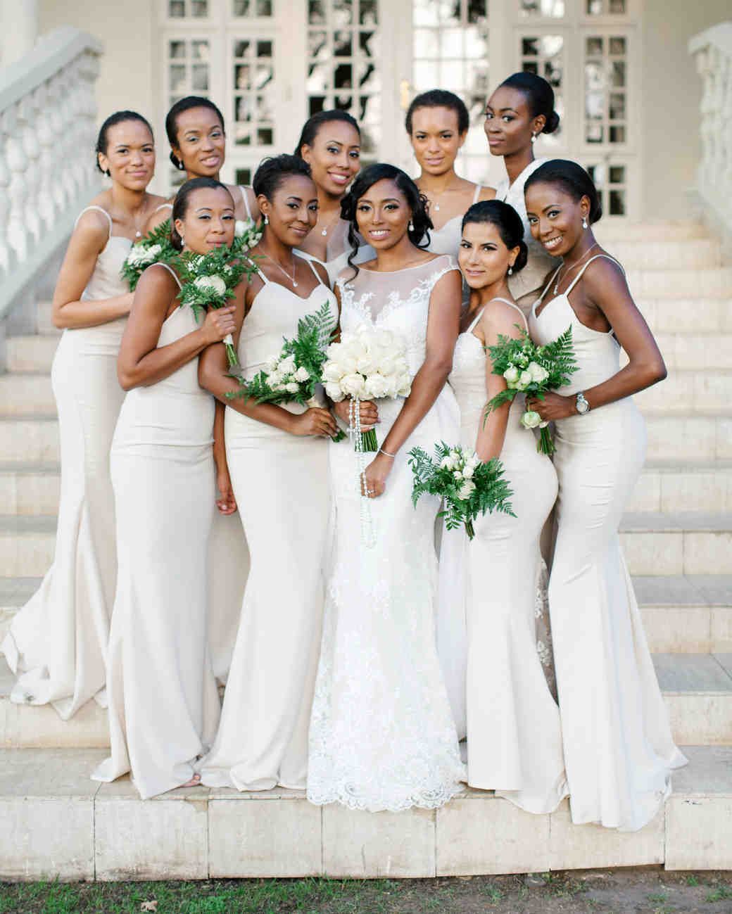chloe shayo south africa wedding bridesmaids bride steps
